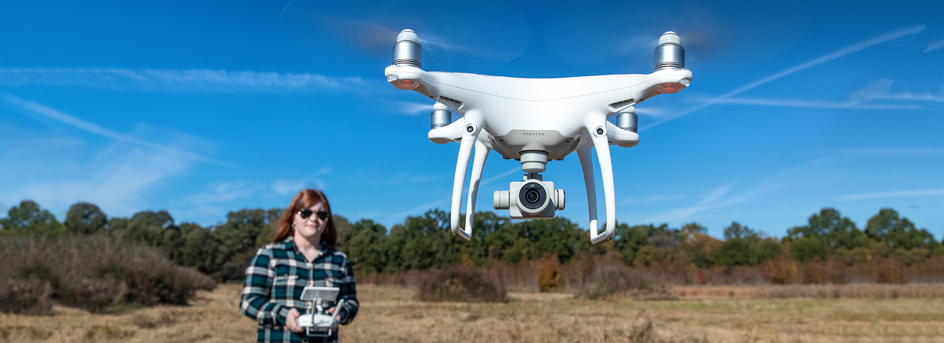 Stephanie Robinson licensed to fly drones banner ad
