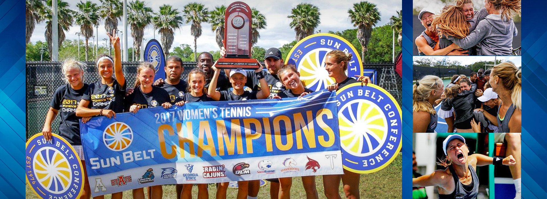 2017 ULM Women's Tennis Champions Sun Belt Conference