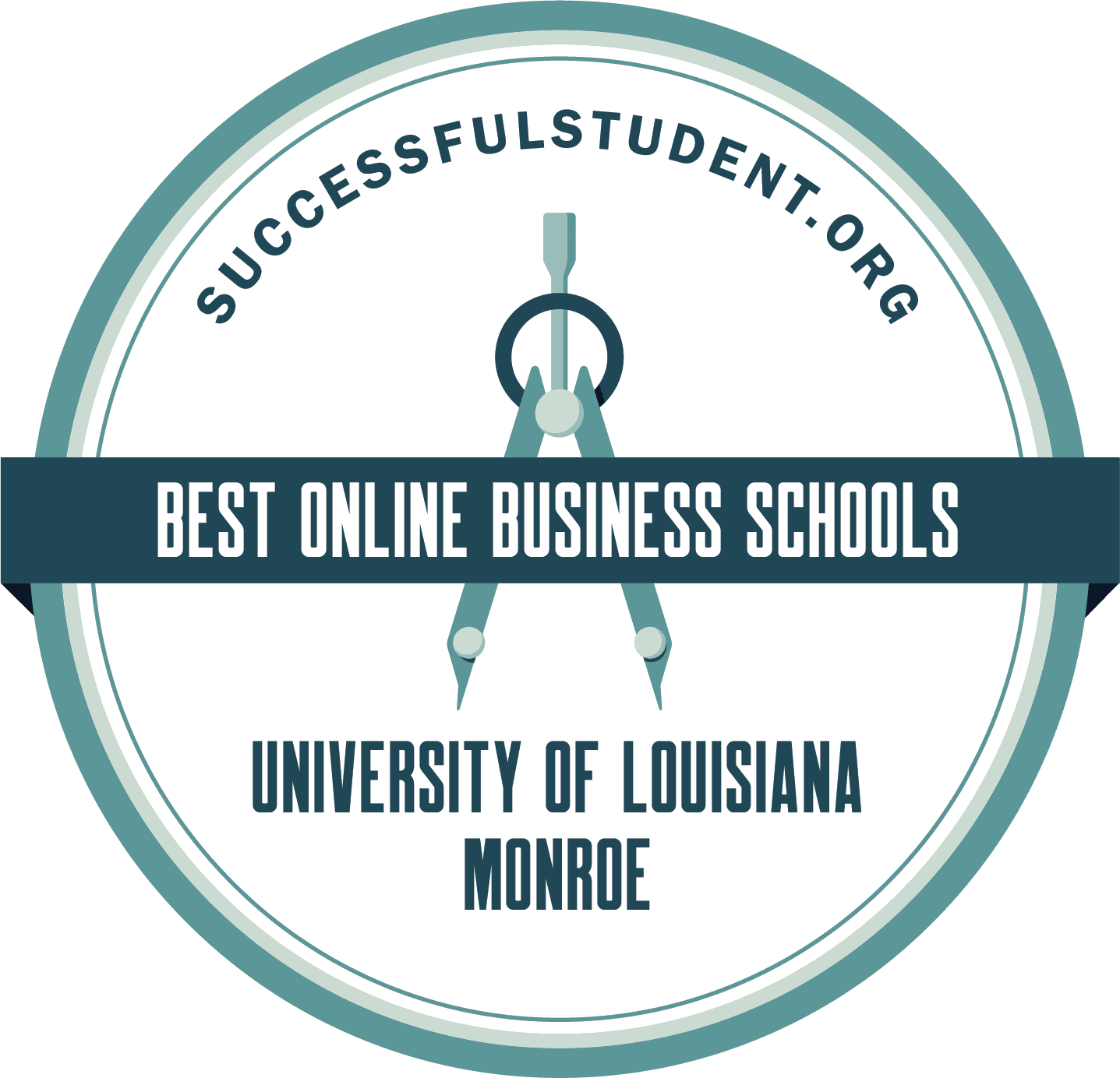 top 50 best in online business schools badge from successful student org
