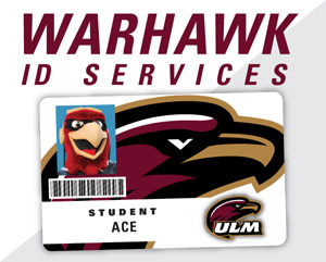 graphic of ULM ID card