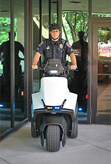 photo of police officer on segway