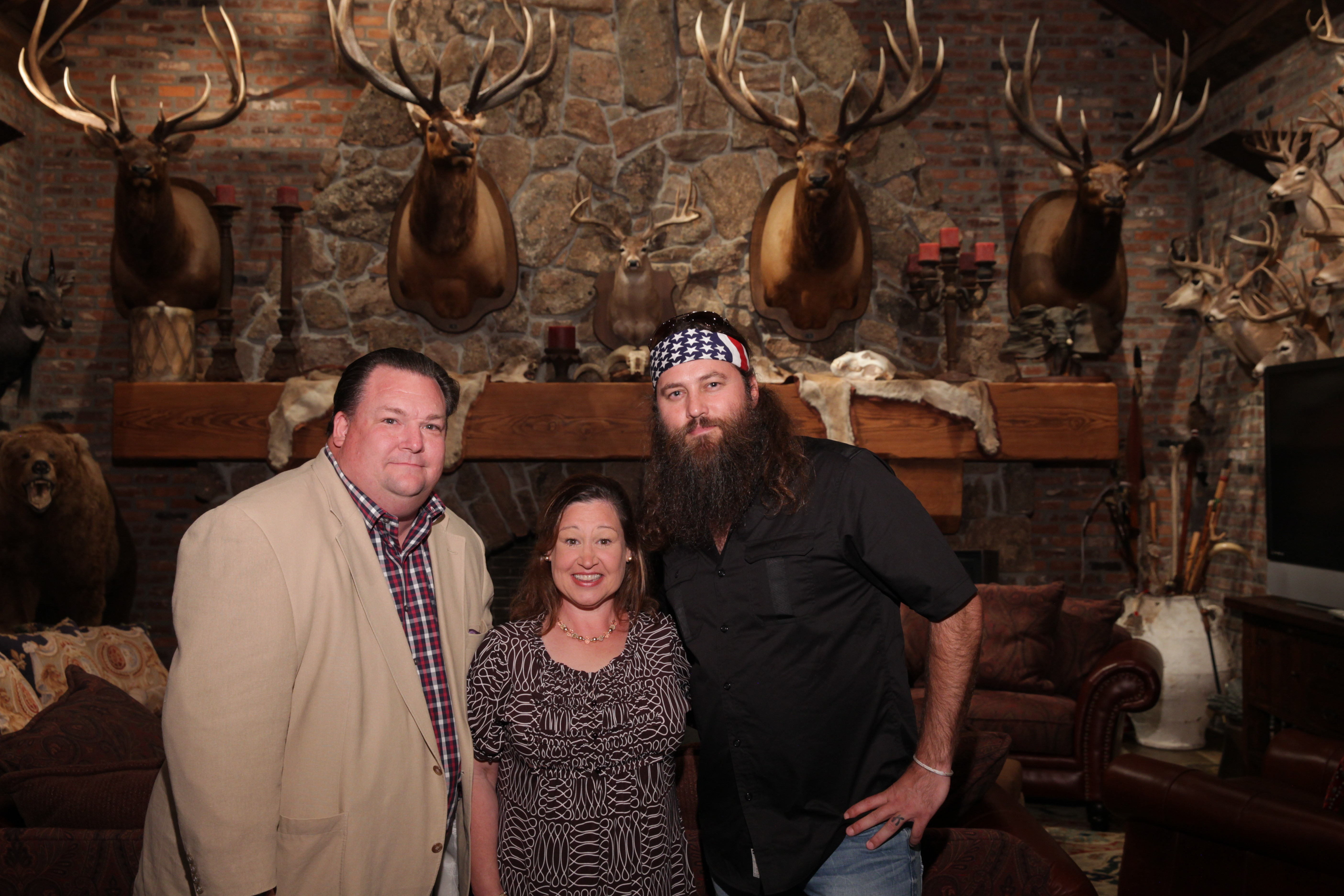 Dr. Sutherlin with Willie Robertson (Duck Dynasty)