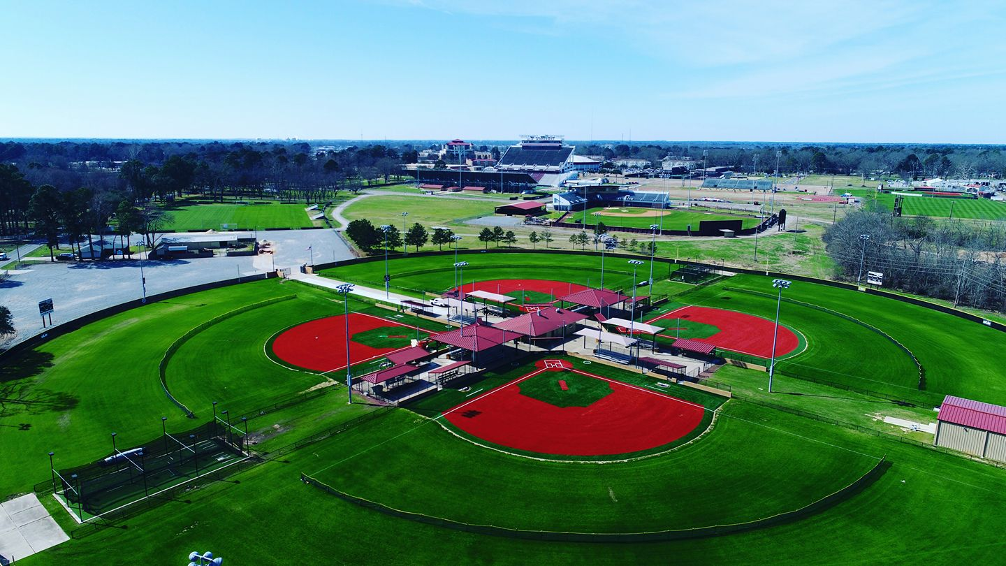 aerial of turf fields