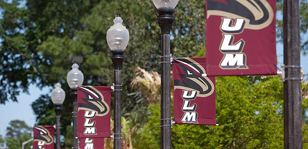 ULM banners on light poles