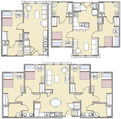 bayou village apartments floorplan