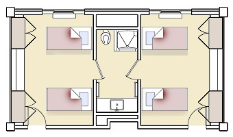 Ouachita Hall Floorplan