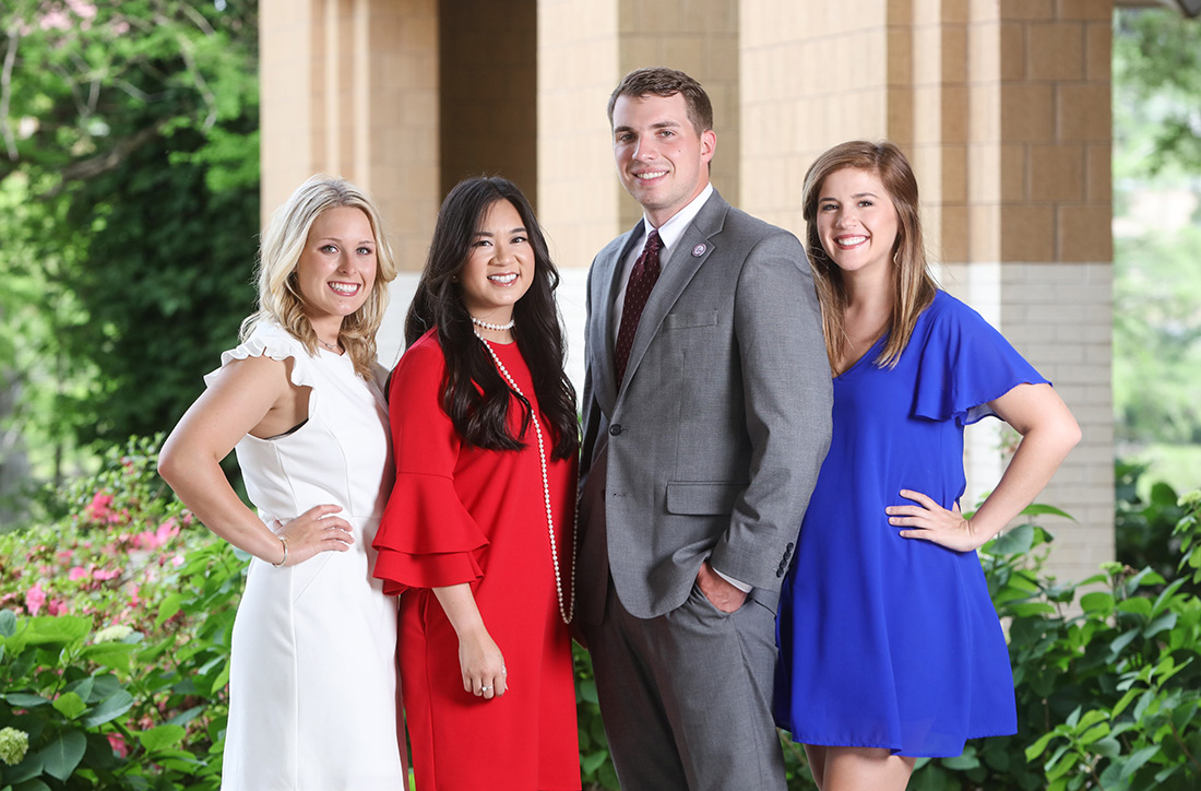 group photo of smiling sga officers
