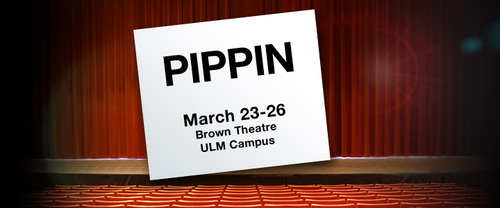graphic of stage and sign announcing Pippin