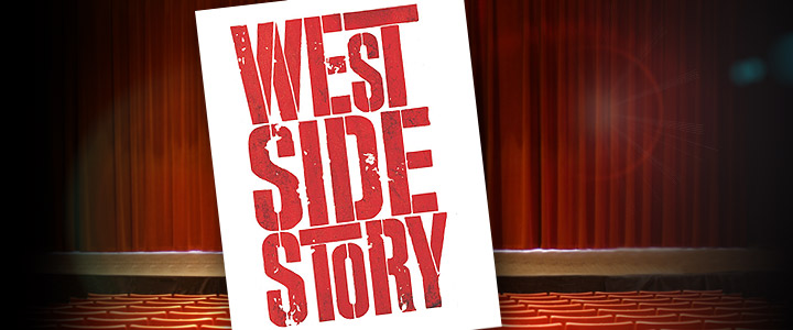 stage with west side story logo art