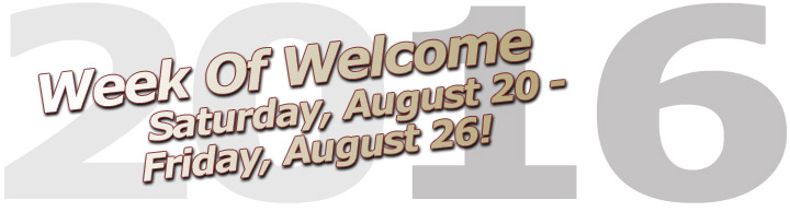 Week of Welcome August 20-26 graphic